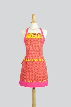 Reversible Chef Apron  Two Sided Womens Kitchen by CreativeChics, $55.00