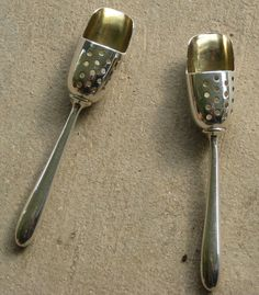 Antique Sterling Silver Salt Scoops - Love these!