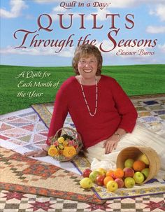 Quilts Through the Seasons Quilt in a Day Book Eleanor Burns 1st Ed New Hurt