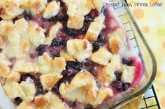 lemon blueberry bread pudding.