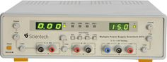 Scientech 4074 Multiple 4 Outputs DC Power Supply is designed as a Constant Current (CC) and Constant Voltage (CV) source for use in laboratories, industries and field testing. With compact size, light weight and low power loss, it provides DC output voltages for Analog and Digital testing. The DC output 0 - 30V and 0 � 15V dual tracking can be adjusted, with coarse and fine controls. DC output 5V can be adjusted between 4.8V - 6V. Current limit is adjustable from 0-1A. Over loading is…