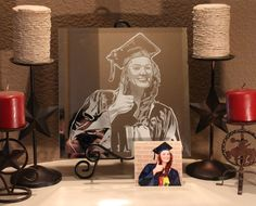 A personal favorite from my Etsy shop https://www.etsy.com/listing/186201617/graduation-portrait-mirror-artwork Texas Mirror Artwork Home Decor Sandblasted Dallas  DFWArtwork