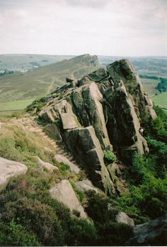 Valkyrie Buttress, The Roaches, Peak District, England by Emily Harriet Beyond The Sea, Fantasy Places, Peak District, Beautiful Landscapes, Britain, Beautiful Places, Places To Visit, England, Explore