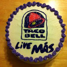 Bell cake to kick off their launch of Doritos Locos Tacos and Live Más.Taco Bell cake to kick off their launch of Doritos Locos Tacos and Live Más. School Birthday Treats, 16th Birthday, Birthday Party Themes, Birthday Cake, Birthday Ideas, Fancy Cakes, Party Drinks, Cake Creations, Birthdays
