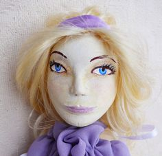 hand made Doll LILAC LADYOOAK dolls Paper clay by LaurasHandmade, $175.00