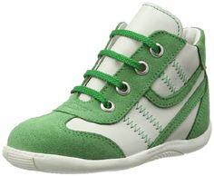 Däumling Timmy – Zapatos de primeros pasos de cuero bebé – unisex, color verde, talla 25