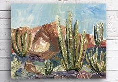 Check out our arizona paintings selection for the very best in unique or custom, handmade pieces from our shops. National Park Gifts, National Park Posters, National Parks, Outdoor Wall Art, Outdoor Walls, Desert Art, Park Art, Cactus Decor, Thing 1