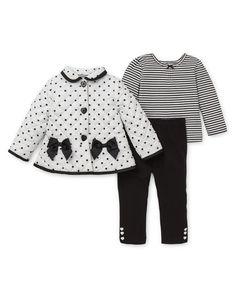Black & White 3-Piece Jacket Set (1Y-18mo-2Y)