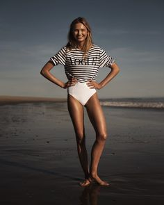 Romee Strijd Enchants at the Beach for Vogue Netherlands - Fashion Gone Rogue