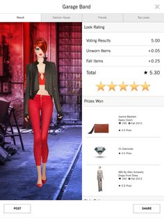 Garage Band Covet Fashion 5 star style challenge
