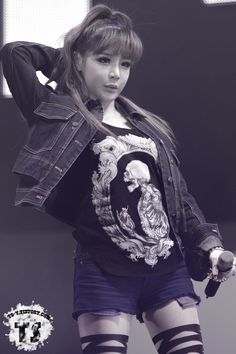 #2ne1 #parkbom I love her voice omg and she was and still is adorable 'v'
