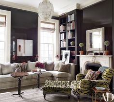 The designer brings a mod version of 19th-century eclecticism to a storied townhouse