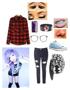 """hi~hope"" by peacetea-queen on Polyvore featuring Glamorous, Converse, Wildflower and Linda Farrow"