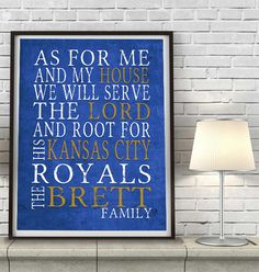 """Kansas City Royals baseball inspired Personalized Customized Art Print- """"As for Me"""" Parody- Unframed Print"""