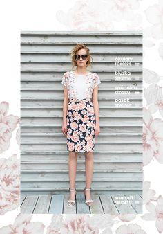 Elegancka spódnica i bluzka w kwiaty #topsecret