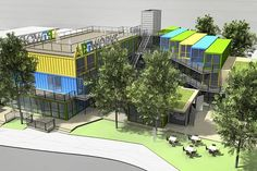 shipping container mall | ... , to be built on Walworth Road using recycled shipping containers