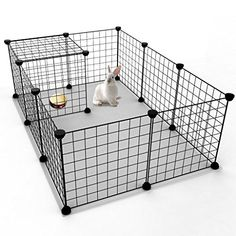 Tespo Pet Playpen, Small Animal Cage Indoor Portable Metal Wire Yard Fence for Small Animals, guinea pigs, rabbits Kennel Crate Fence Tent, Black 12 Panels - Dog Store Puppy Kennel, Dog Kennel Cover, Diy Dog Kennel, Bunny Cages, Dog Cages, Pet Cage, Rabbit Playpen, Pet Rabbit, House Rabbit