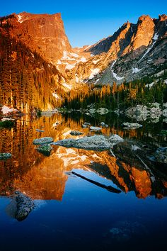 Dream Lake in Rocky Mountain National Park in Estes Park, CO #USA