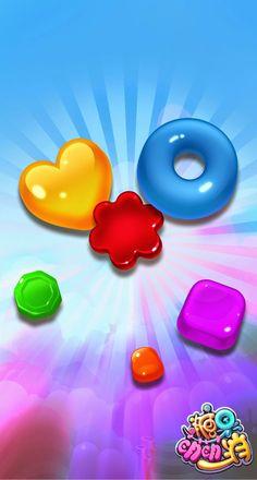 Vector Design, Ui Design, Bubble Games, Match 3 Games, Game Ui, Candies, Rainbow Colors, Promotion, Digital Art