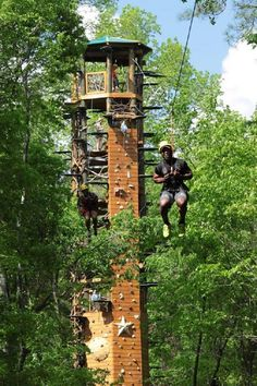 The Mega Zip at the Kaul Adventure Tower will have you soaring 80 feet in the air at a speed of 30 mph. You can either choose to do this activity solo, or race side by side with a friend or family member.