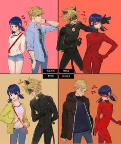 The love square (Miraculous Ladybug)