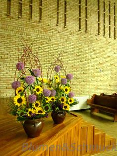 church flower deco for child's week