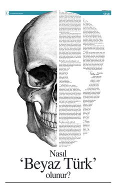 Interesting use of shape of the skull to layout text. Newspaper Design Layout, Page Layout Design, Magazine Layout Design, Book Design, Book Layout, Magazine Layouts, Graphic Design Posters, Graphic Design Typography, Graphic Design Inspiration