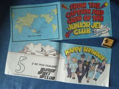Our friend @Tumnie on twitter sent us this cool pic of Air NZ Junior JetClub bday cards from 1979 & 1980!