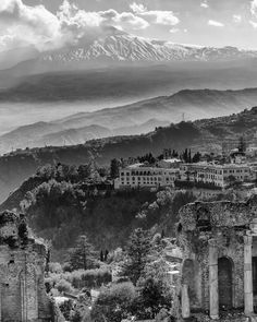 #landscape_captures of #Etna from the #theater of #Taormina #sicily #vulcano...