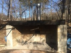Building a cinder block maple syrup cooker/evaporator for homemade maple syrup! From Such and Such Farm Maple Syrup Evaporator, Homemade Maple Syrup, Firewood Shed, Farm Projects, Outdoor Oven, Sugaring, Wild Edibles, Cinder, Preserving Food