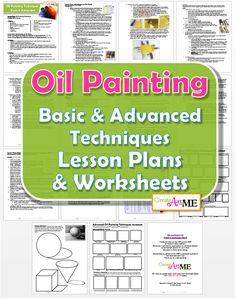Oil Painting Techniques Lesson Plans & Worksheets #OilPaintingArt
