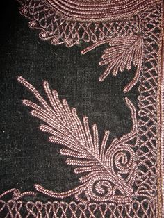 Mainly Serbian, some Bulgarian, Greek, Croatian and Romanian Tambour Embroidery, Embroidery Suits, Hand Embroidery, Textile Patterns, Textiles, Mallow Flower, Lilac Color, Dusty Rose, Needlework