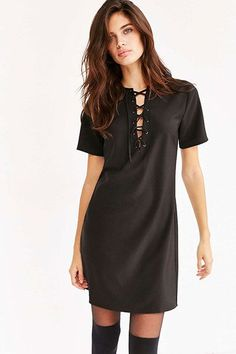 16 Subtly Sexy LBDs For Your Next Date Night #refinery29  http://www.refinery29.com/little-black-dresses-under-100#slide-9  Embrace the lace-up trend with this easy above-the-knee piece. ...