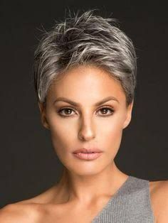 Today we have the most stylish 86 Cute Short Pixie Haircuts. We claim that you have never seen such elegant and eye-catching short hairstyles before. Pixie haircut, of course, offers a lot of options for the hair of the ladies'… Continue Reading → Short Grey Hair, Short Hair Cuts For Women, Short Hairstyles For Women, Grey Wig, Grey Hair Styles For Women, Grey Short Hair Styles, Curly Gray Hair, Grey Pixie Hair, Short Silver Hair