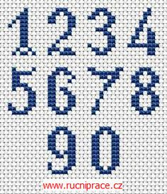 Numbers, free cross stitch patterns and charts Cross Stitch Numbers, Cross Stitch Letters, Cross Stitch Love, Cross Stitch Flowers, Cross Stitch Designs, Stitch Patterns, Loom Patterns, Christmas Cross Stitch Alphabet, Cross Stitching