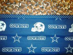 Custom Handmade NFL Dallas Cowboys Washable Pillowcase. Fits Standard Size Pillow. by MissAmandaMadeIt4Me on Etsy