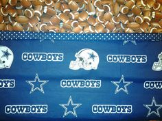 Custom Handmade NFL Dallas Cowboys Washable Pillowcase. Fits Standard Size Pillow. by MissAmandaMadeIt4Me on Etsy