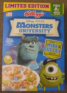 Monsters University Cereal by Gamekirby.deviantart.com on @deviantART