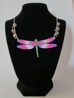 shrink plastic   Shrink Plastic Dragonfly Necklace by LibertineM