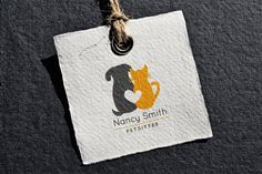 Dog, Cat, and Heart combine in this simple and striking logo. Its purrfect for Photographers, Vet Clinics, Groomers, Petsitters, and many other