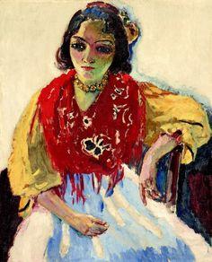 Kees van Dongen - Trinidad Fernandez, oil on canvas, Tehran Museum of Contemporary Art. Ernst Ludwig Kirchner, Henri Matisse, André Derain, Teheran, Raoul Dufy, Great Works Of Art, Van Gogh Museum, Dutch Painters, Museum Of Contemporary Art