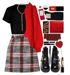"""""""Eleven"""" by majomilk ❤ liked on Polyvore featuring Carven, Topshop, Jeffrey Campbell, Bobbi Brown Cosmetics, Gucci, Jin Soon, Serge Lutens, NARS Cosmetics, Falke and Giorgio Armani"""
