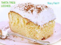 tarta tres leches, buenísima! Real Mexican Food, Mexican Food Recipes, Sin Gluten, Coffee Break, Vanilla Cake, Recipies, Birthday Cake, Sweet, Desserts