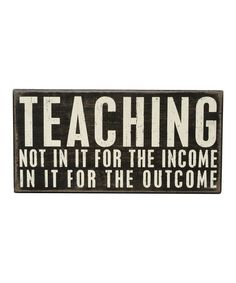 Another great find on #zulily! 'In It for the Outcome' Box Sign #zulilyfinds