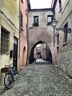 """Via Delle Volte, the oldest street in the medieval town of Ferrara - """"The Medieval Town of Ferrara"""" by @Cristina"""