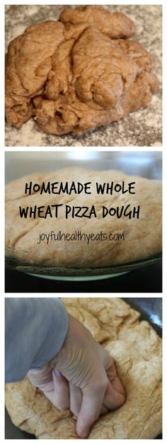 Why not have a Family Fun Night cooking dinner?! Here is a Homemade Whole Wheat Pizza Dough that you are sure to enjoy!! | joyfulhealthyeats.com