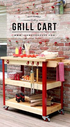 #DIY  Rolling Grill Cart