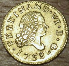 1758 Spanish GOLD 1/2 Escudo - HIGH QUALITY RARE COIN - Very Nice LOOK