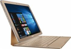 """Samsung - Galaxy TabPro S 2-in-1 12"""" Touch-Screen Laptop - Intel Core m3 - 8GB Memory - 256GB Solid State Drive - Gold - Front Zoom"""