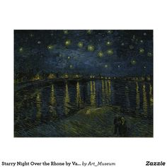 """Starry Night,"""" an 1888 painting by Vincent van Gogh in Tate Britain's new exhibition. The work depicts the Rhone in France, but scholars believe it was influenced by a view of the Thames in London.CreditCreditRMN-Grand Palais/Musee d'Orsay Hieronymus Bosch, Canvas Wall Art, Canvas Prints, Art Prints, Blue Canvas, Wall Mural, Canvas Size, Wall Decor, Vincent Van Gogh Pinturas"""